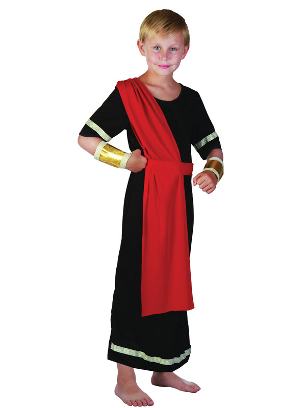 Child Caesar Black Costume