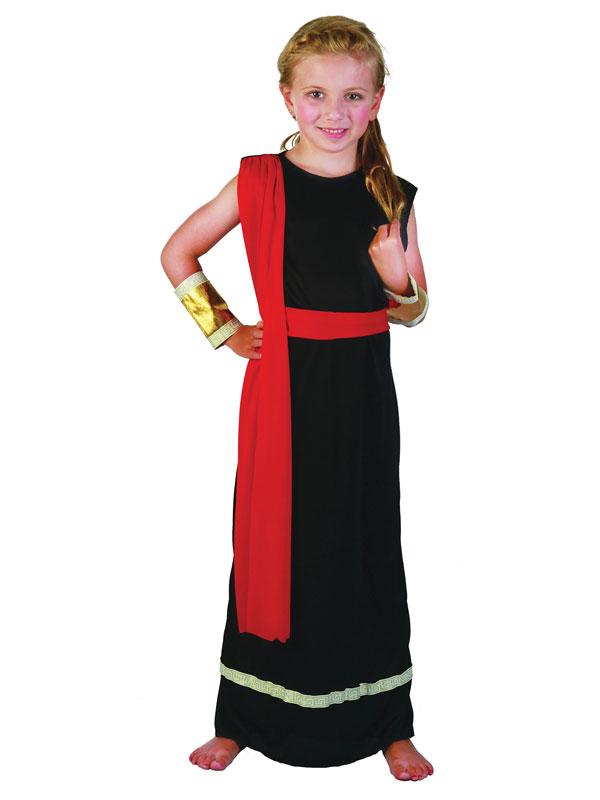 Child Roman Girl Lady Black Costume