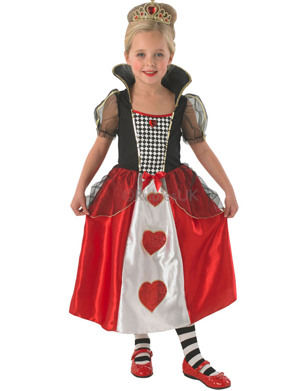 Child-Queen-Of-Hearts-Outfit-Fancy-Dress-Costume-  sc 1 st  eBay & Child Queen Of Hearts Outfit Fancy Dress Costume Alice in Wonderland ...