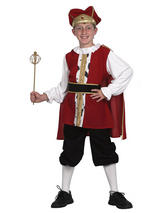 Child Child Medieval King Costume