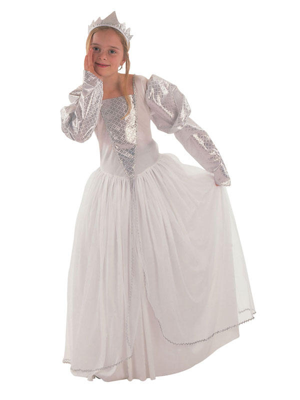 Child White Fairytale Princess Costume