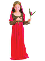 Juliet Girls Costume Medieval Child Fancy Dress All Sizes Kids Book Week Outfit