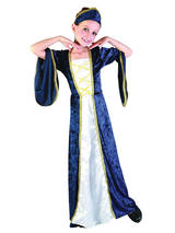 Child Blue Regal Princess Costume