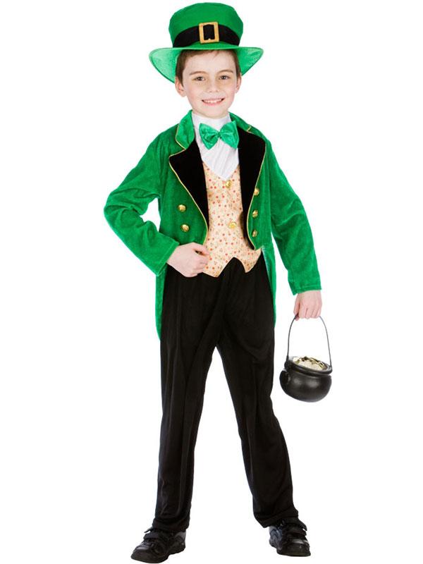 Child Deluxe Leprechaun Boy Costume