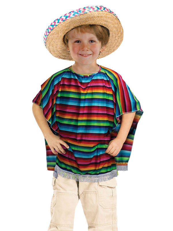 Child Mexican Poncho Costume
