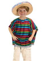 Child Mexican Poncho Costume