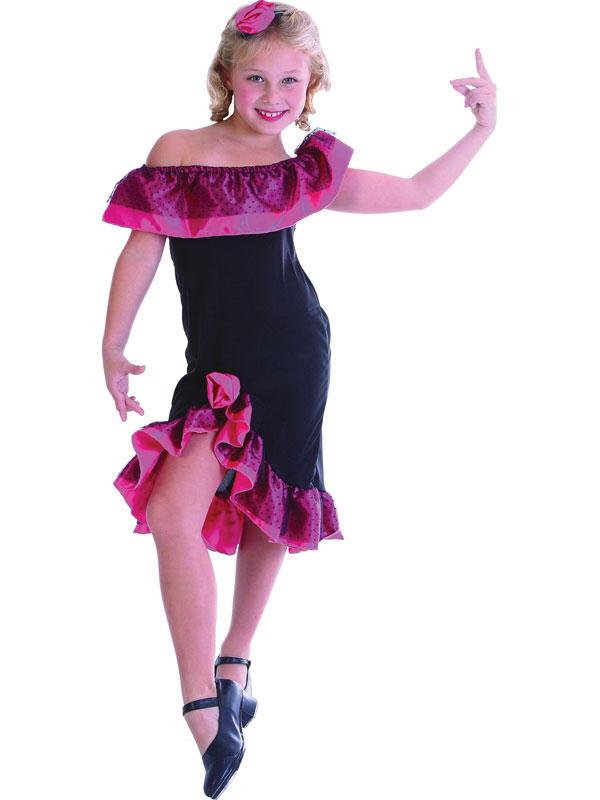 Child Flamenco Tango Girl Costume
