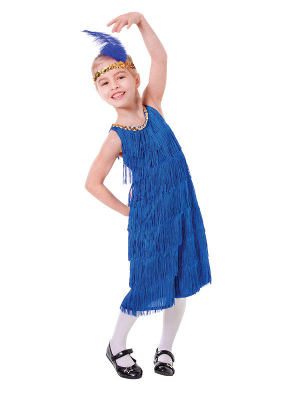 Child Blue Flapper Dress Costume