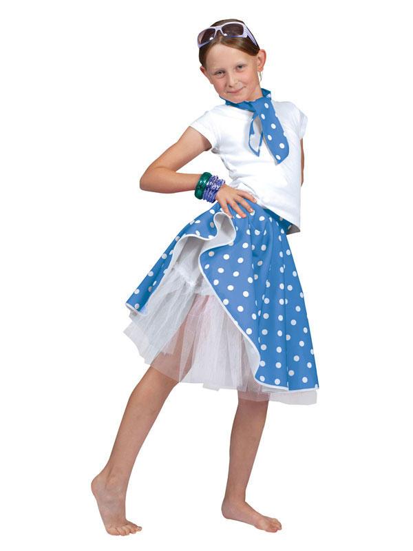 Child Blue Rock 'N' Roll Skirt