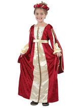 Child Red Regal Princess Costume