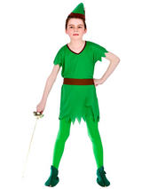 Child Lost Boy Robin Hood Elf Costume