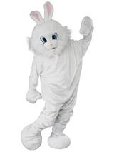 Adult Jumbo Head Easter Bunny New Outfit Fancy Dress Mascot Costume White Rabbit