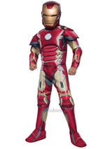 Child Muscle Chest Iron Man Costume