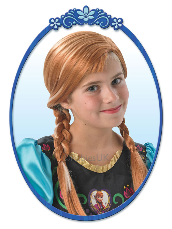 Child Disney Anna Wig Costume