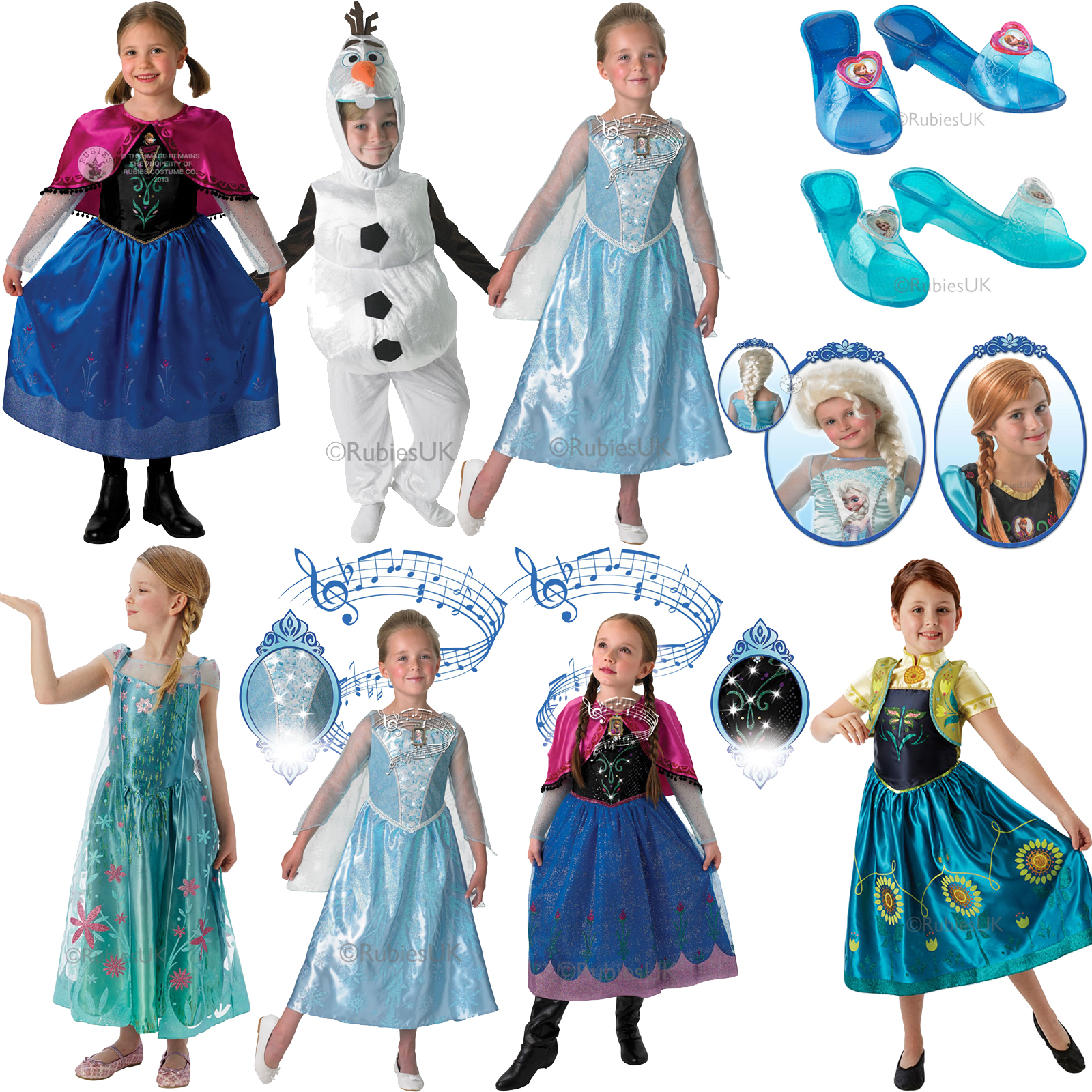 384b79d42678 Sentinel GENUINE LICENSED DISNEY OFFICIAL Frozen Princess Outfit Child New Fancy  Dress
