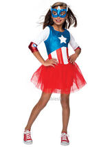 Child Captain American Dream Tutu Dress Costume