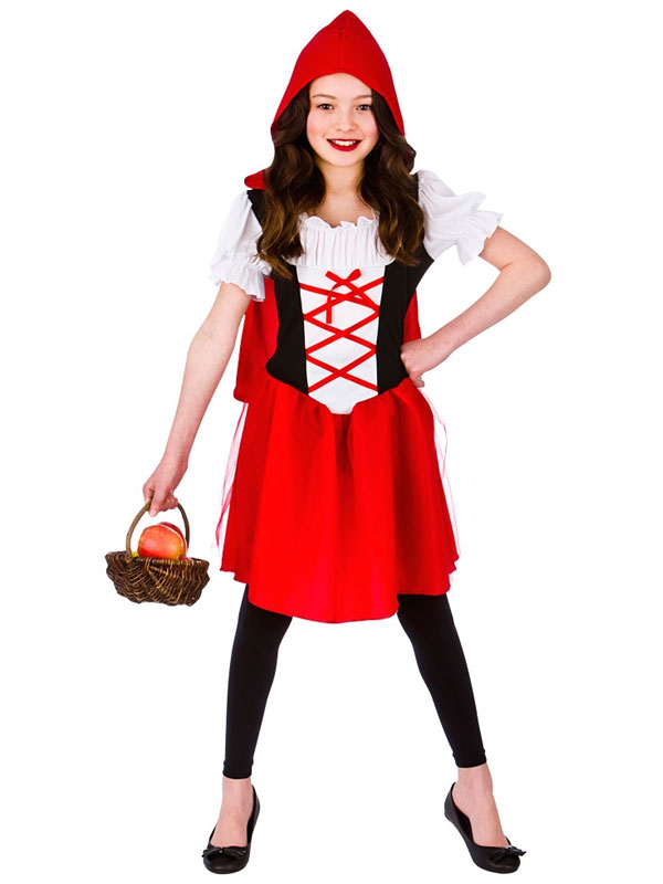 Red Riding Hood Kids Fancy Dress Fairy Tale Story Book Week Childs Kids Costume