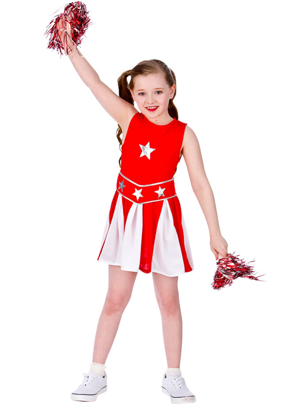 Child Red White Cheerleader Costume Other Styles