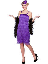 Jazzy Flapper Pencil Dress Purple Costume