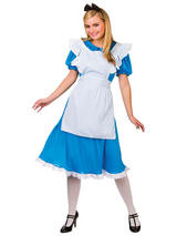 Ladies Storybook Alice In Wonderland Fairy Tale Book Week Fancy Dress Costume