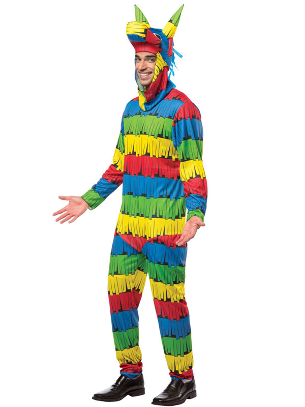 Adult Funny Mexican Pinata Outfit New Fancy Dress Costume Birthday Fiesta Mens | eBay