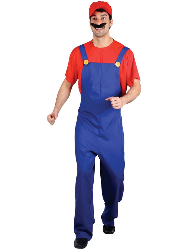Funny Plumber Costume Red