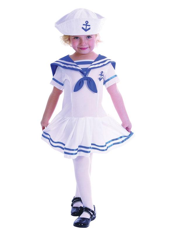 Child Sailor Girl Toddler Costume