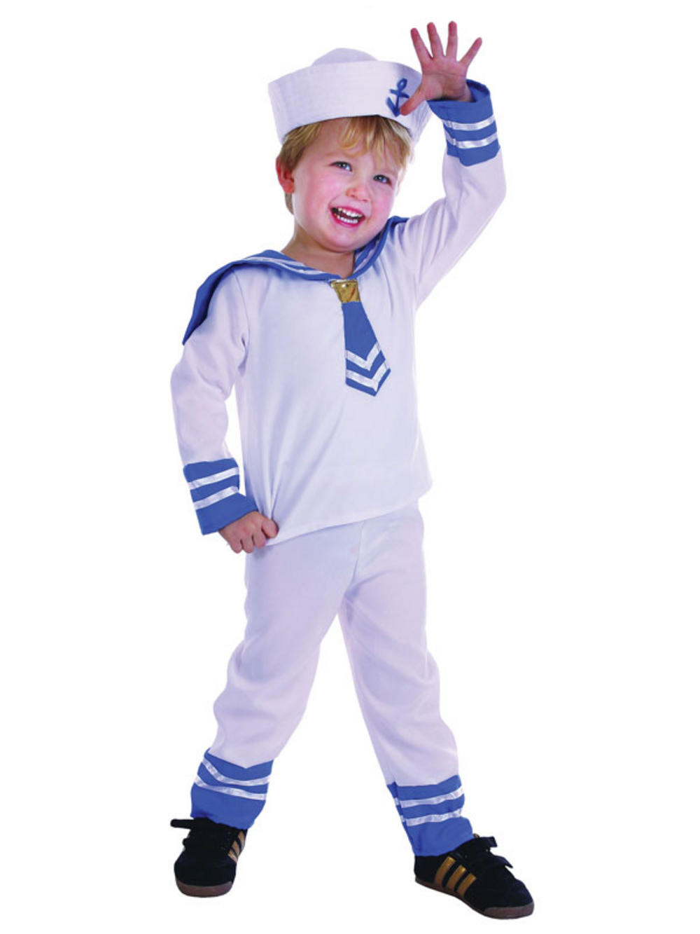Childrens White Sailor Boy Outfit Fancy Dress Costume ...