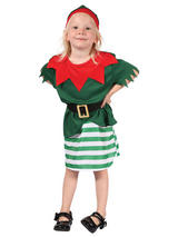Child Santa Helper Girl Costume
