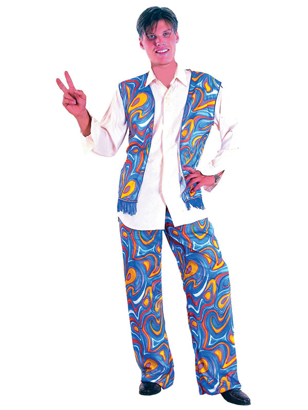 Flower Power Hippy Man Costume