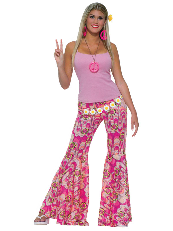 Flower Power Bell Bottom Trousers