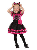 Child Girls Pink Kitty Toddler Costume