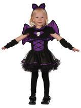 Child Girls Evil Bat Princess Tutu Dress Costume