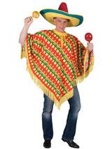 Poncho Chilli Print Costume