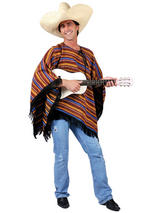 Mexican Poncho Stripey Costume