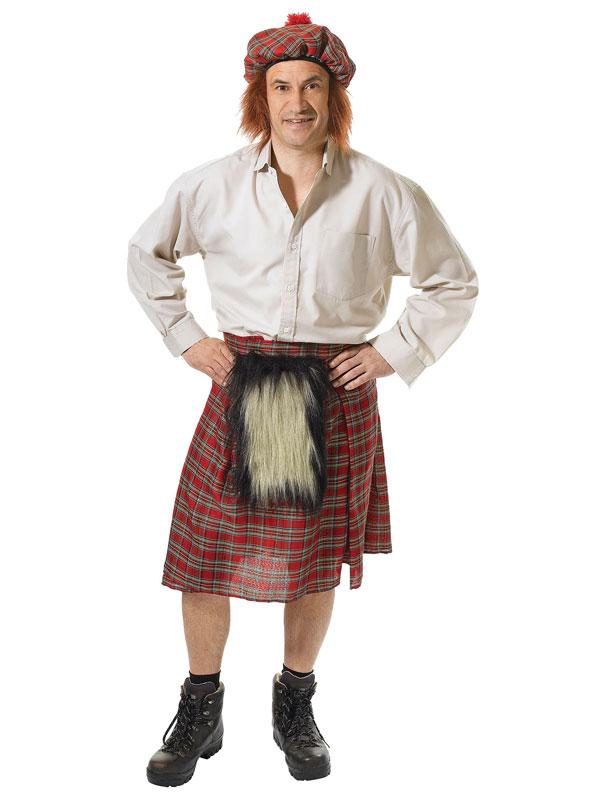 Mens Scots Kilt + Hat