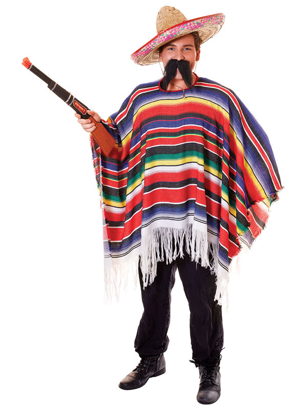 Mexican Poncho Packaged Costume