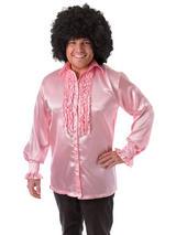 Satin Shirt & Ruffles Pink
