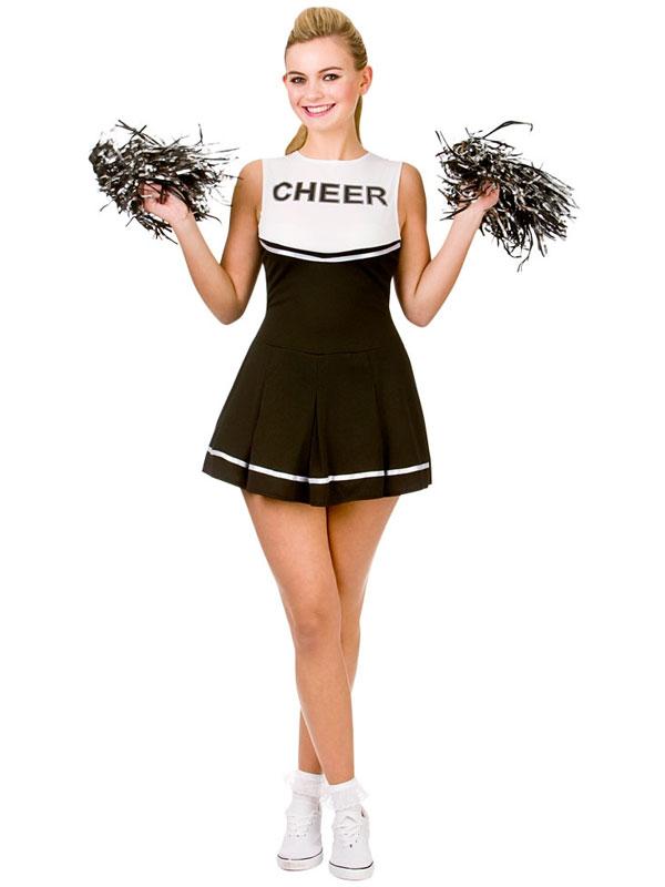 Cheerleader Black White Costume