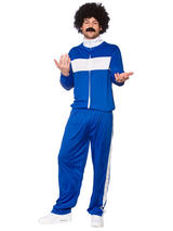 Retro Trackie Blue White Costume