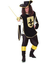 Musketeer Man Black Costume