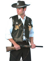 Cowboy Waistcoat Black
