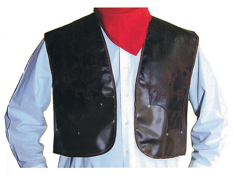 Cowboy Vest Deluxe Brown Leather Waistcoat