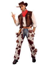 Cowboy Costume & Cowprint Chaps