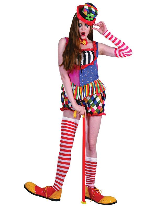 Rainbow Clown Female Costume