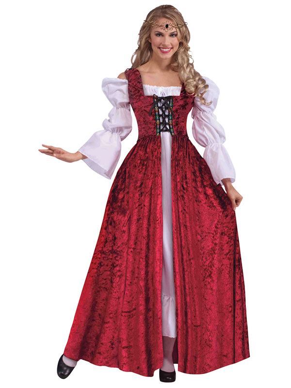 Medieval Lace Up Gown Costume
