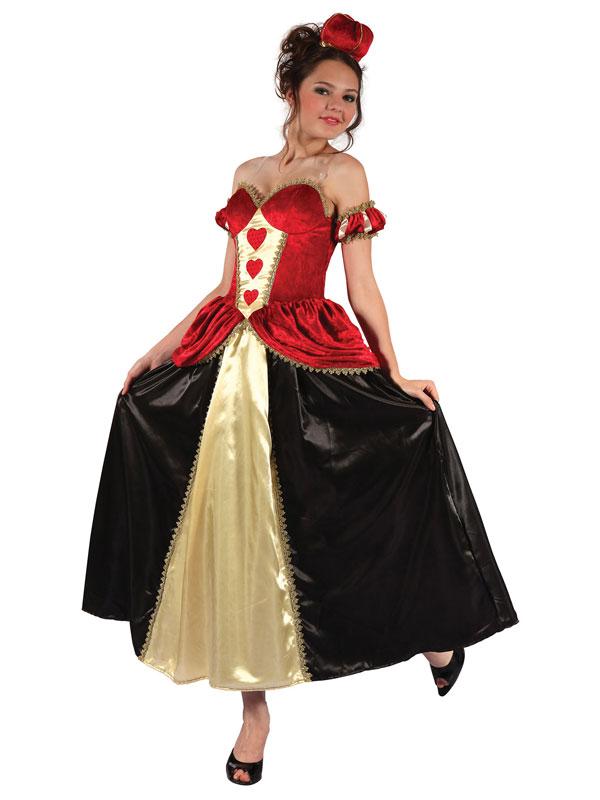 Queen Of Hearts Dress + Headband Costume
