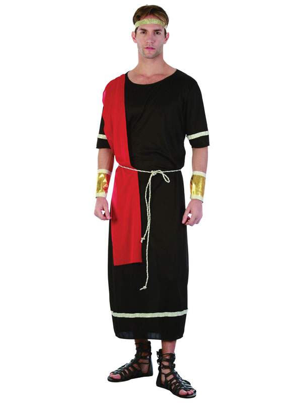 Caesar Black Toga Costume