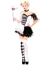Sexy Harlequin Jester Costume