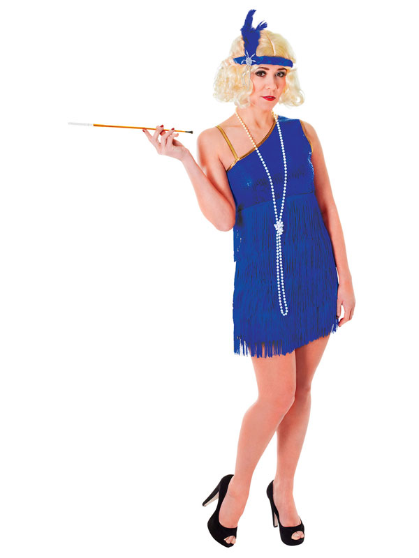 Flapper Dress Blue Costume